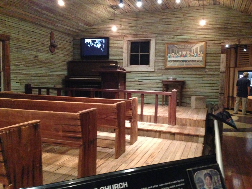 original church interior, now on view in Stax museum