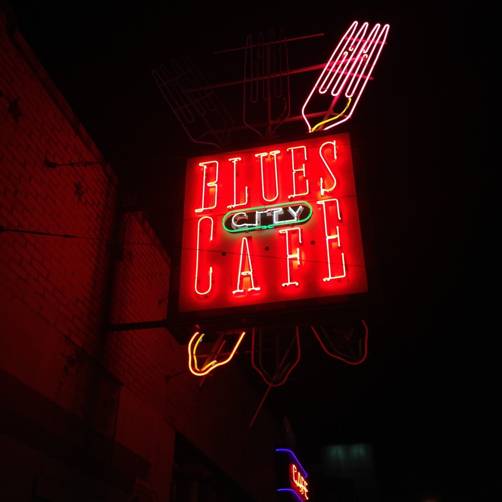 One of many Blues Cafes  on Beale Street. Photo Courtesy of Madison Moore.