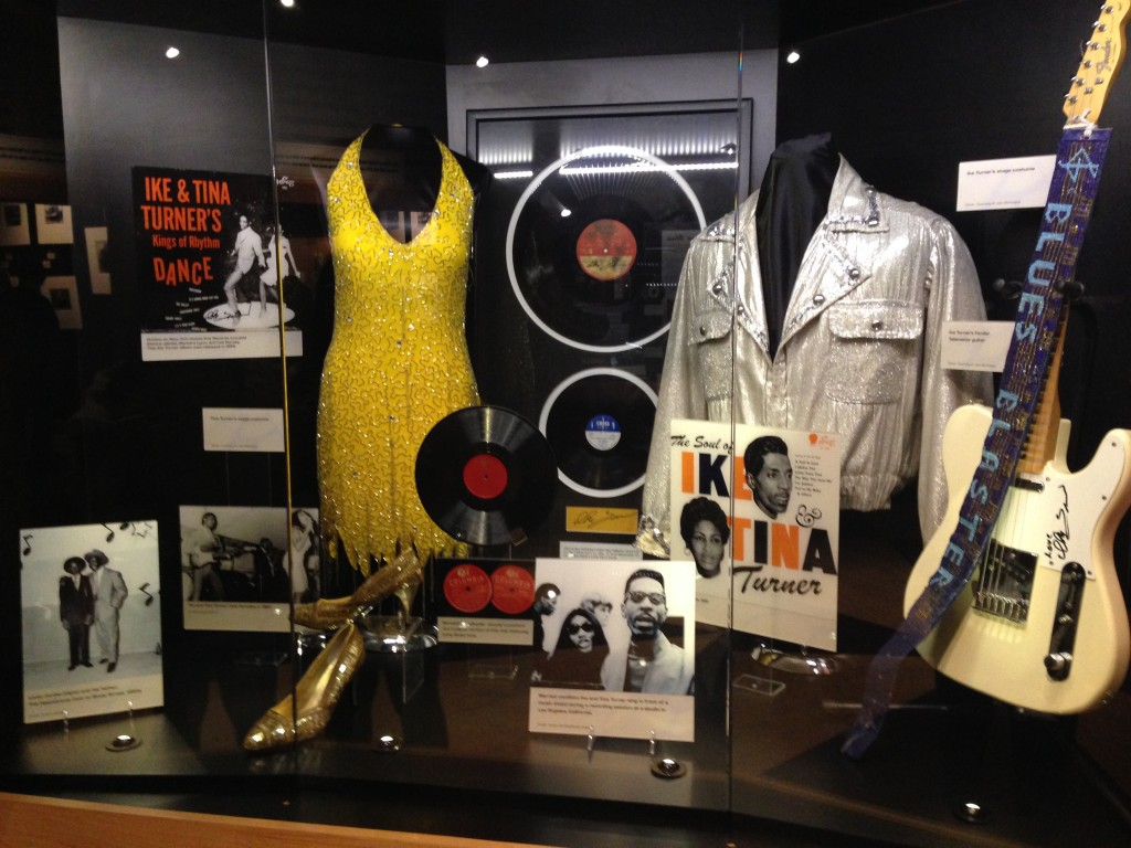 Costumes of Ike and Tina Turner, on display at Stax museum