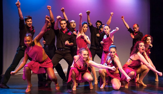 Francesca Negro with the Lisbon based dance group Salsa Stage