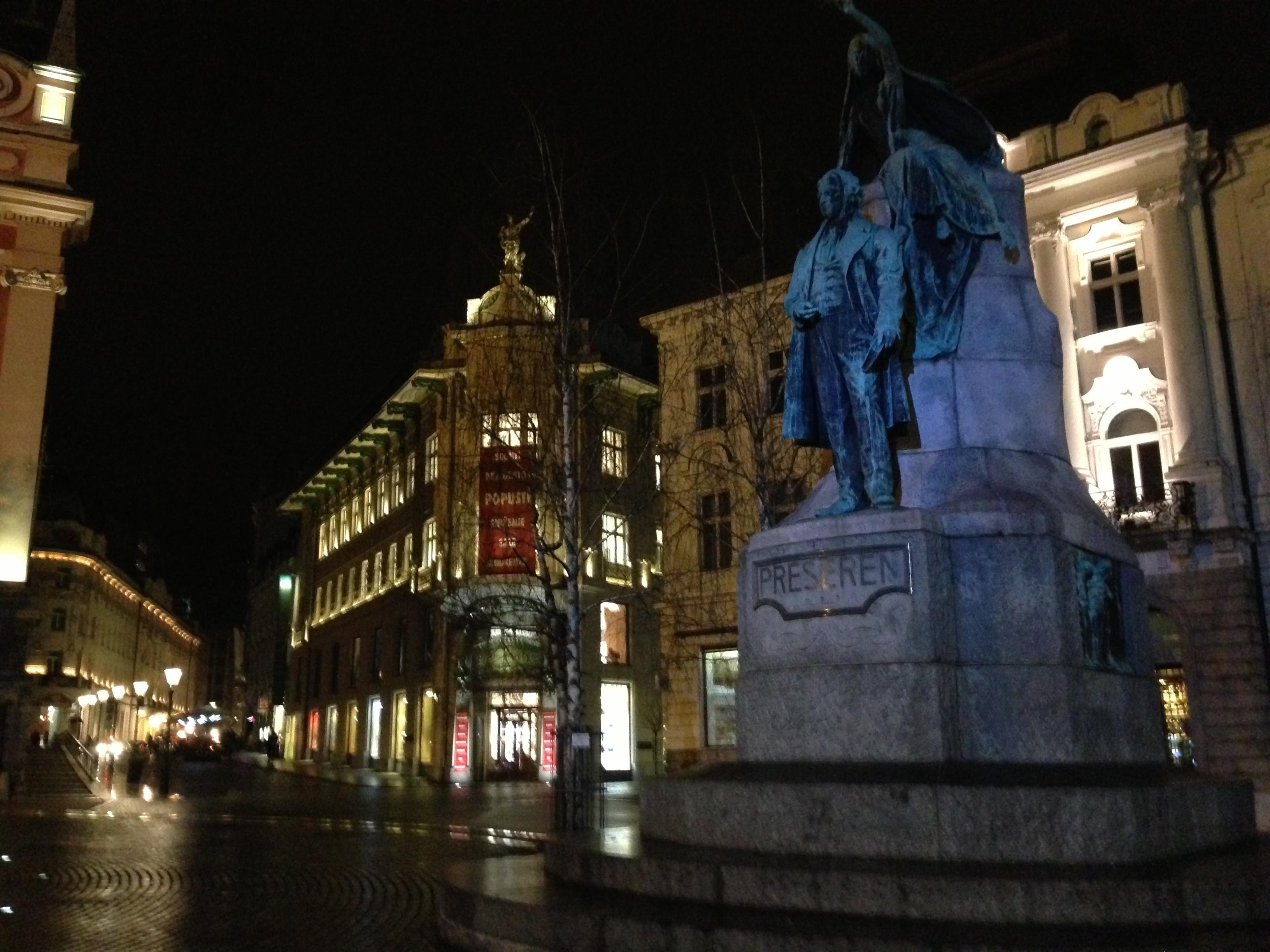 Preseren's statue
