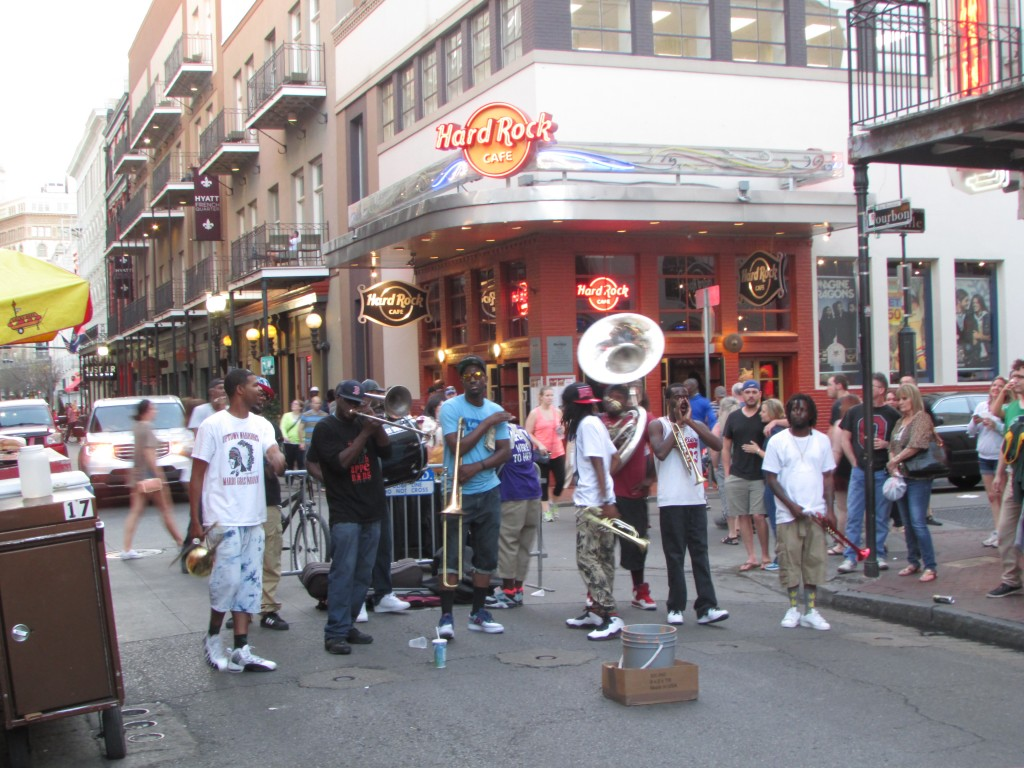 Brass band in Bourbon Street - Photo courtesy of Elina Djebbari
