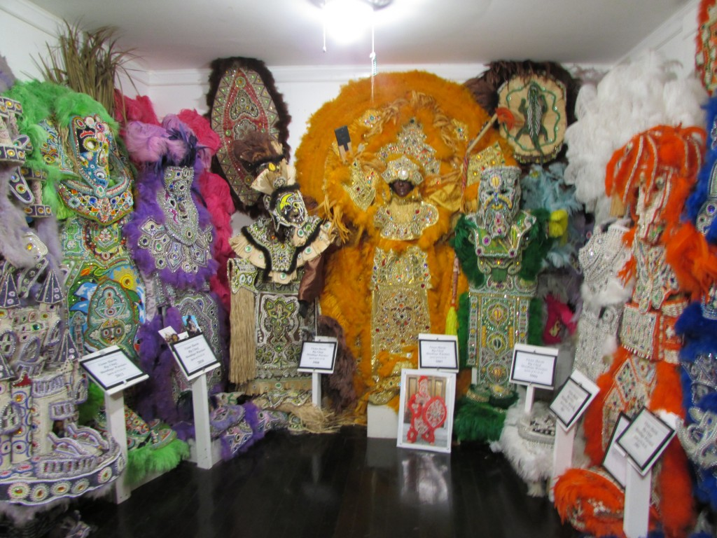 Mardi Gras Indians costumes in Backstreet Cultural Museum - Photo courtesy of Elina Djebbari