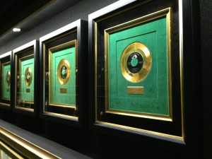 corridor of gold discs. photo courtesy of Ananya Kabir