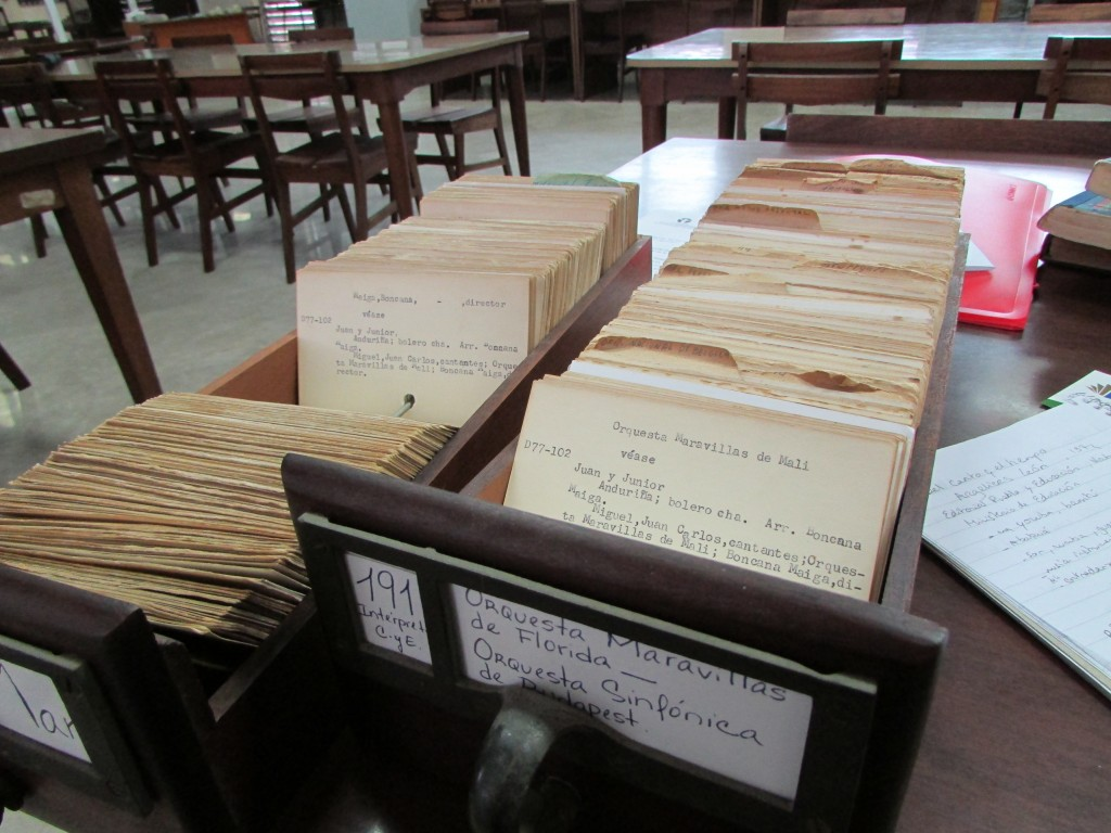 Photo 2 - Archives search at Biblioteca Nacional
