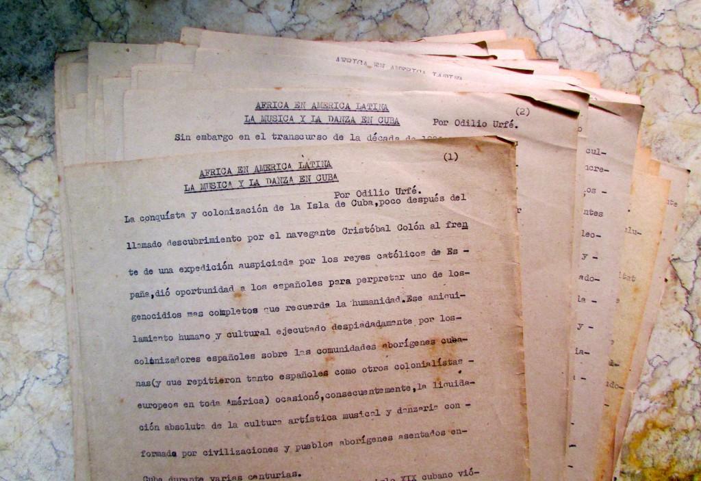 Photo 3- Odilio Urfé¹s manuscript