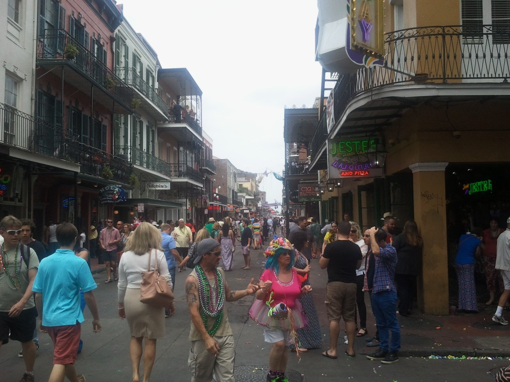 A usual Sunday for New Orleans, warming up for the Second Line - Photo courtesy of Elina Djebbari