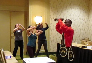 Second Line workshop at PCA/ACA with Dancing Man 504 - Photo courtesy of Elina Djebbari