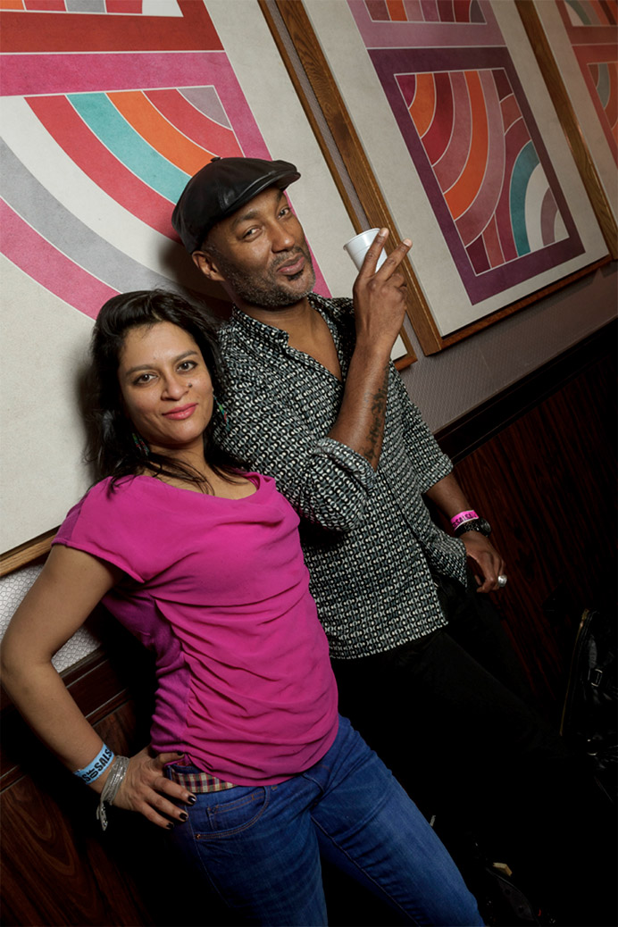 Wilfrid Vertueux and Ananya Kabir at the Stars of Salsa Congress in London, January 2014, where he was DJing. His visit enabled him to present the complete visual look to the Modern Moves team. Photo courtesy Valentin Behringer