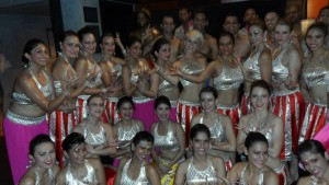 backstage after the Bollywood Bootcamp choreography performance at the Berlin Salsa Congress!