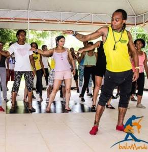 Morenasso teaches a kuduro class at the Exalta Afro Festival, Bahia, Brazil. photo courtesy Facebook