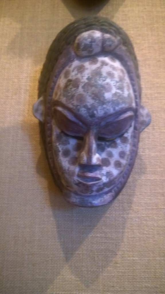 One of the many masks on display at the Dunham museum. Photo courtesy Livia Jimenez
