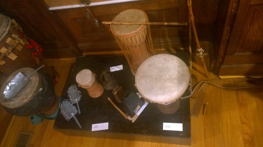 Drums on display in the Dunham museum. Photo courtesy Livia Jimenez