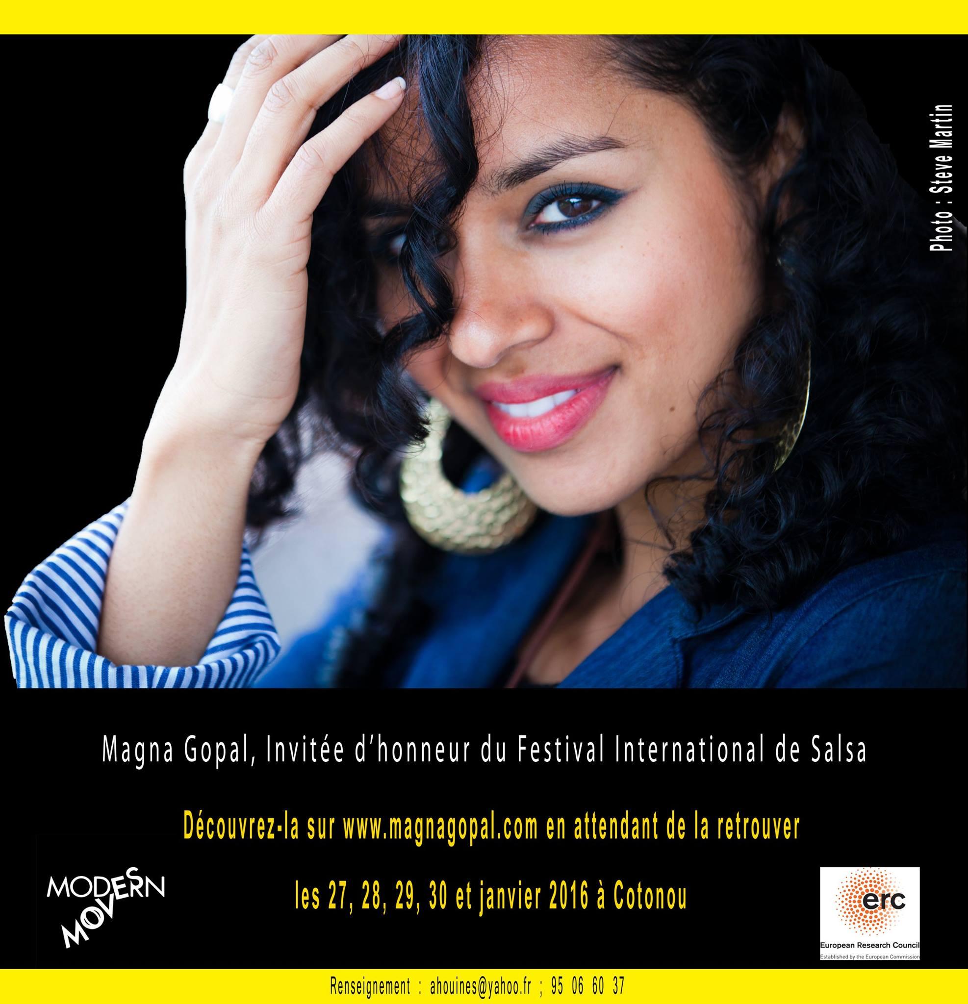 The International Salsa Festival announces Magna Gopal's participation